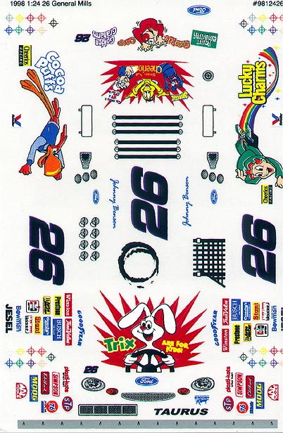 Grafix 26 Trix 1/24 Scale Vinyl Slot Car Decal