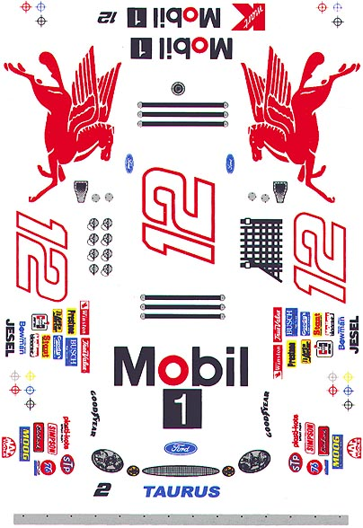 Grafix 12 Mobil 1 1/24 Scale Slot Car Vinyl Decal