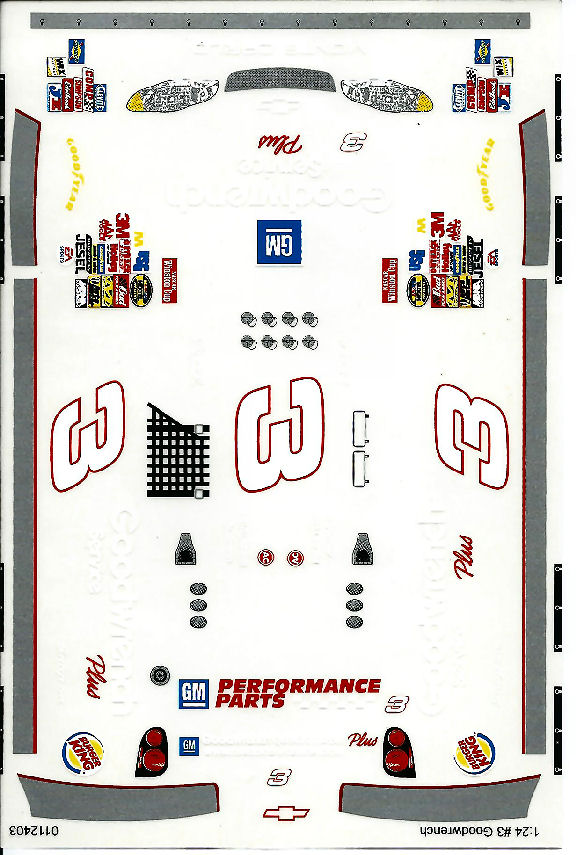 Grafix 3 Goodwrench 1/24 Scale Slot Car Vinyl Decal <br><i>Back in Stock!</i>-