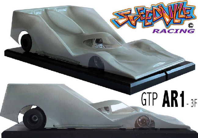 Speedville AR-1 GTP Clear 1/24 Slot Car Body