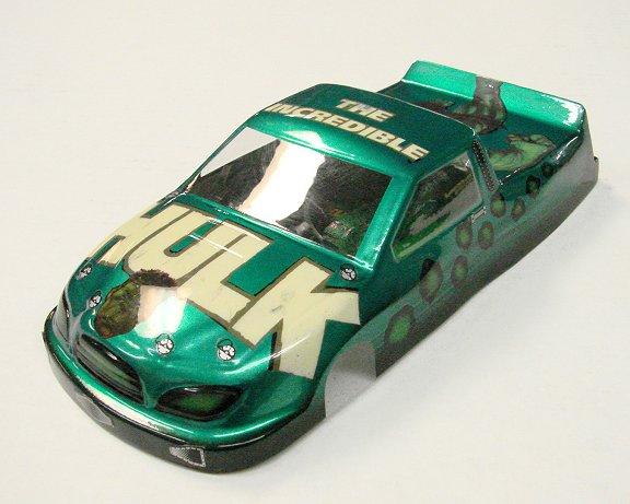 <b>New!</b> Slot Car City Ultra Custom &quot;The Hulk&quot; Nastruck body