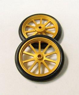 JDS 17&quot; 10 Spoke Drag Fronts <font color=gold><i>&quot;Gold&quot;</font></i>-