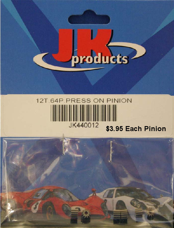 JK 12t 64p Press-On Pinion