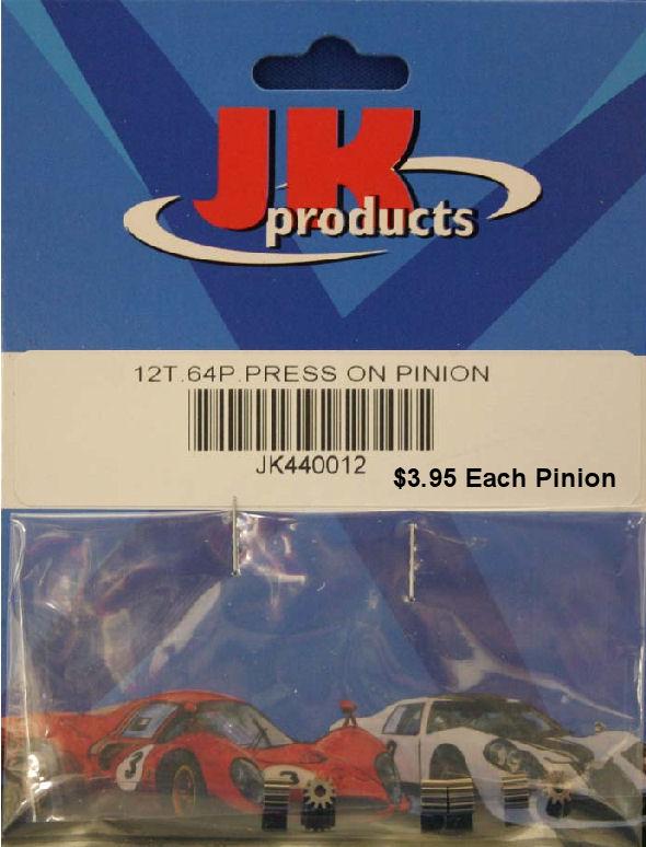 JK 12t 64p Press-On Pinion