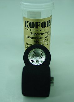 Koford 3/32 x .760 Hard Waffled Hub Wonder Rubber Tire-