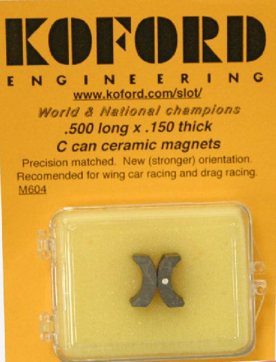 Koford .500 long x .150 thick C-Can Ceramic Magnets