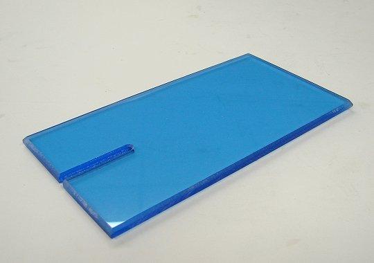"""Lucky Bob's Acrylic Block <font color=blue><i>""""Florescent Blue""""</font></i>"""
