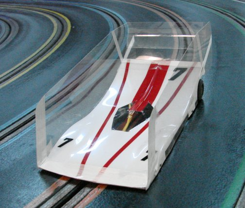 Mick A Pro Mounted O/S Viper-white/red Winged Slot Car Body