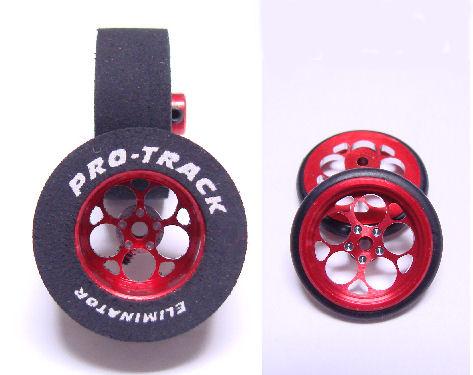"Pro Track ""Magnum Red"" .435 Rear & Front Drag Tires"