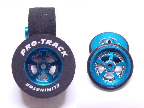 """Pro Track """"Evolution Blue"""" .500 Rear & Front Drag Tires"""
