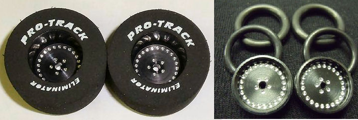 "Pro Track ""Classic Black"" 1 3/16"" x .500 Rear & Front Drag Tires-"