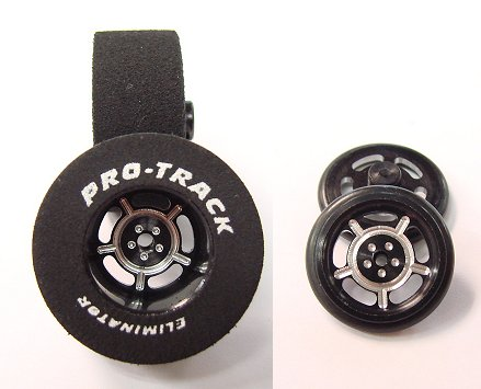 "Pro Track ""Daytona Black"" 1 1/16"" x .500 Rear & Front Drag Tires"