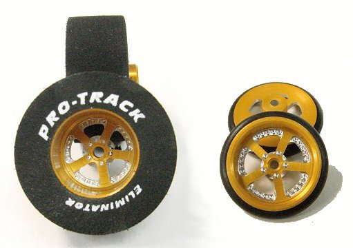 "Pro Track ""Evolution Gold"" .500 Rear & Ft. Drag Tires"