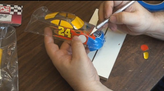 Creating and Pro mounting a custom painted Nascar body-