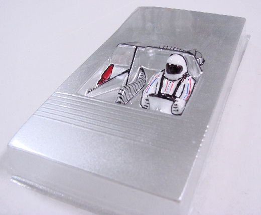 Slot Car City Painted Silver Nascar Interior