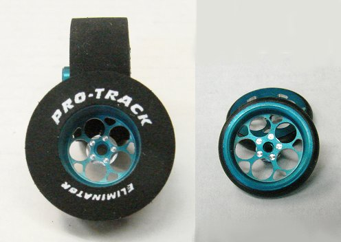 "Pro Track ""Magnum Blue"" .500 Rear & Front Drag Tires"