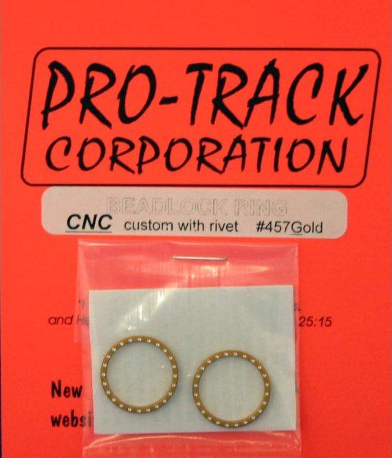 Pro Track Gold Beadlock Ring-