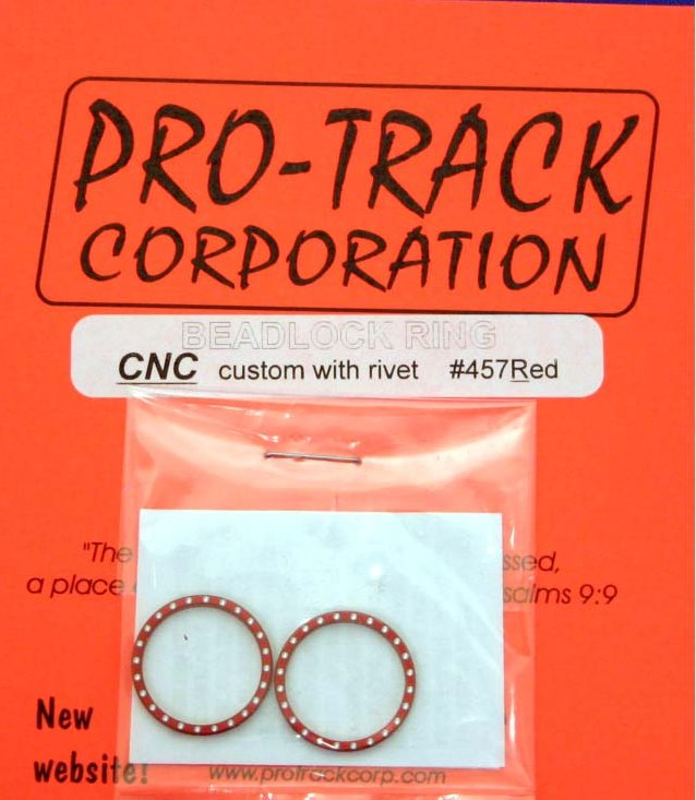 Pro Track Red Beadlock Ring