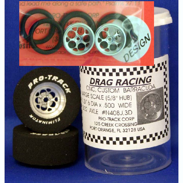 "Pro Track ""Magnum - 3D"" 1 3/16 x .700 Rear & Ft. Drag Tires"