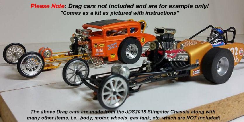 #JDS2018 JDS Slingster 1/24 Drag Chassis Kit