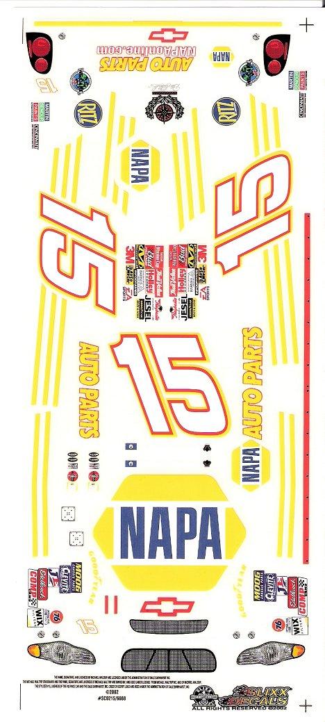 15 NAPA Nascar Slixx High Quality Vinyl Decal