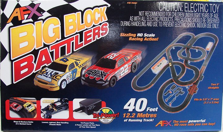AFX Big Block Battlers Race Set w/Tri Power Pack