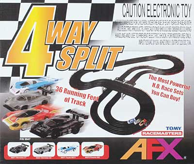 AFX 4-Way Split HO Race Set-