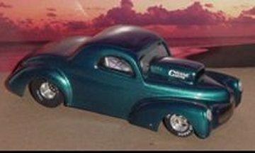Toytech 1940 Willys Pro Gas Clear Drag Body