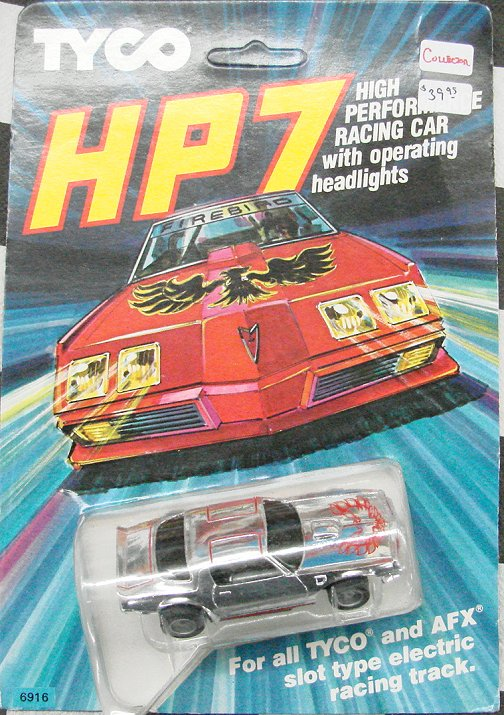 "Tyco HP7 ""79 Firebird Trans-Am Silverbird -lighted Collectors"